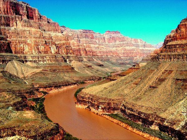 How did the Colorado River sculpt the Grand Canyon?
