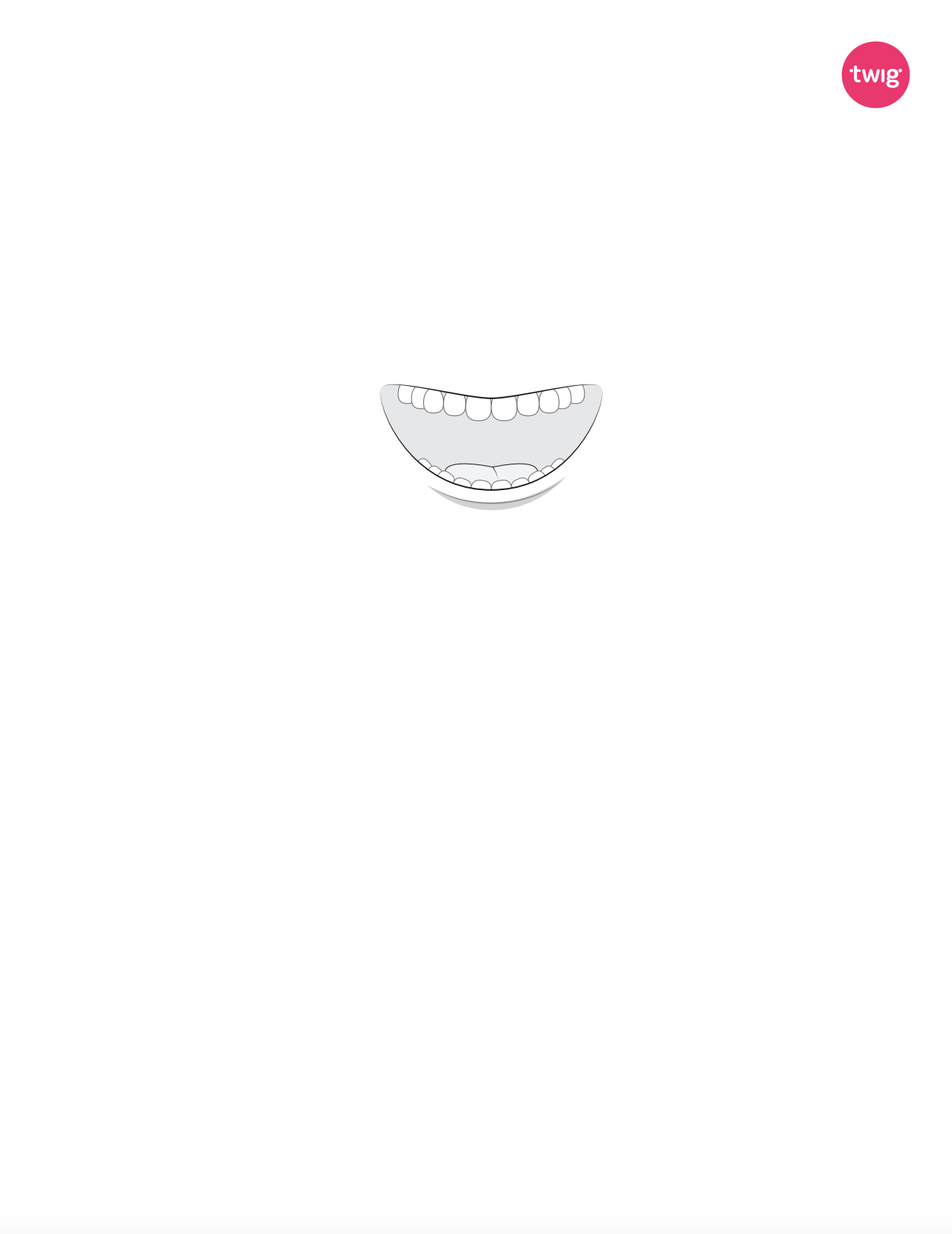 Mouth cutout