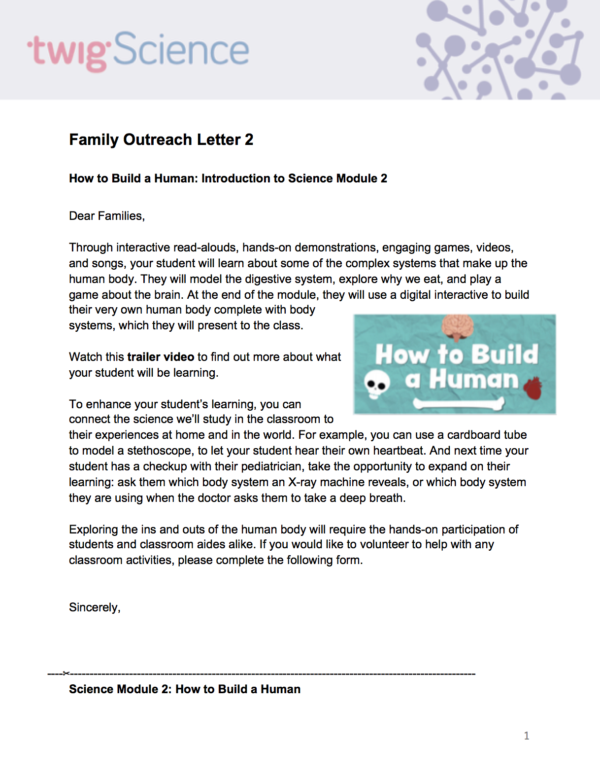 Family Outreach Letter 2