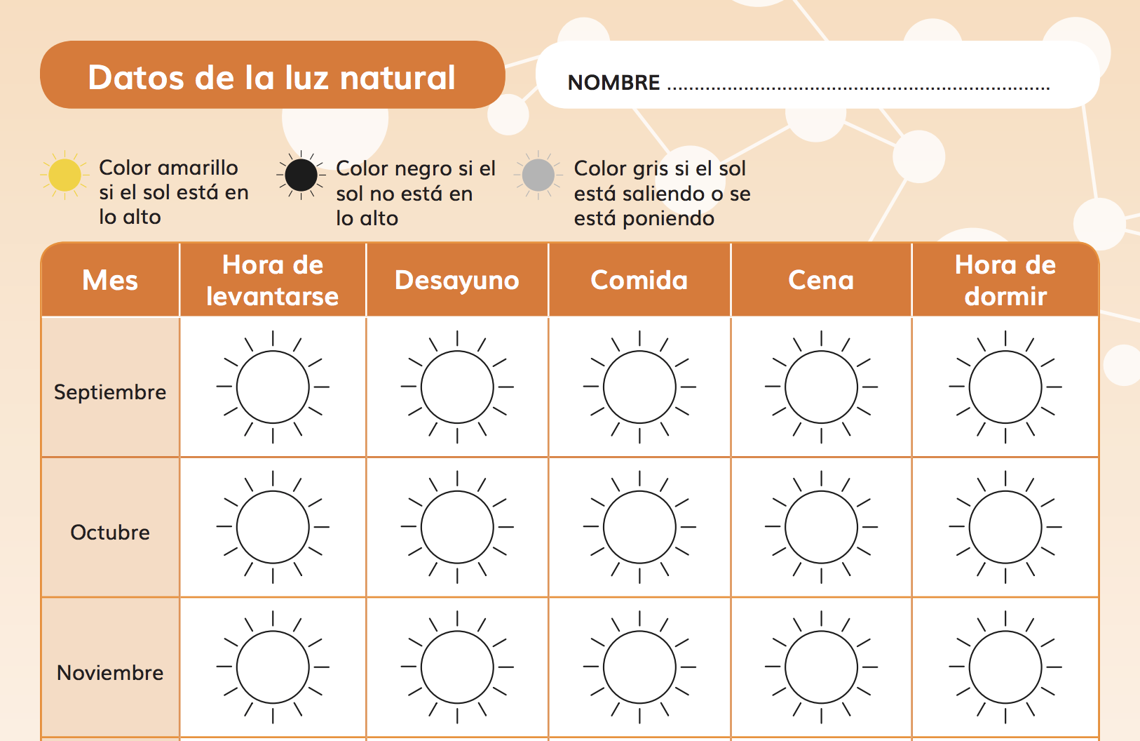 Ficha Datos sobre la luz solar