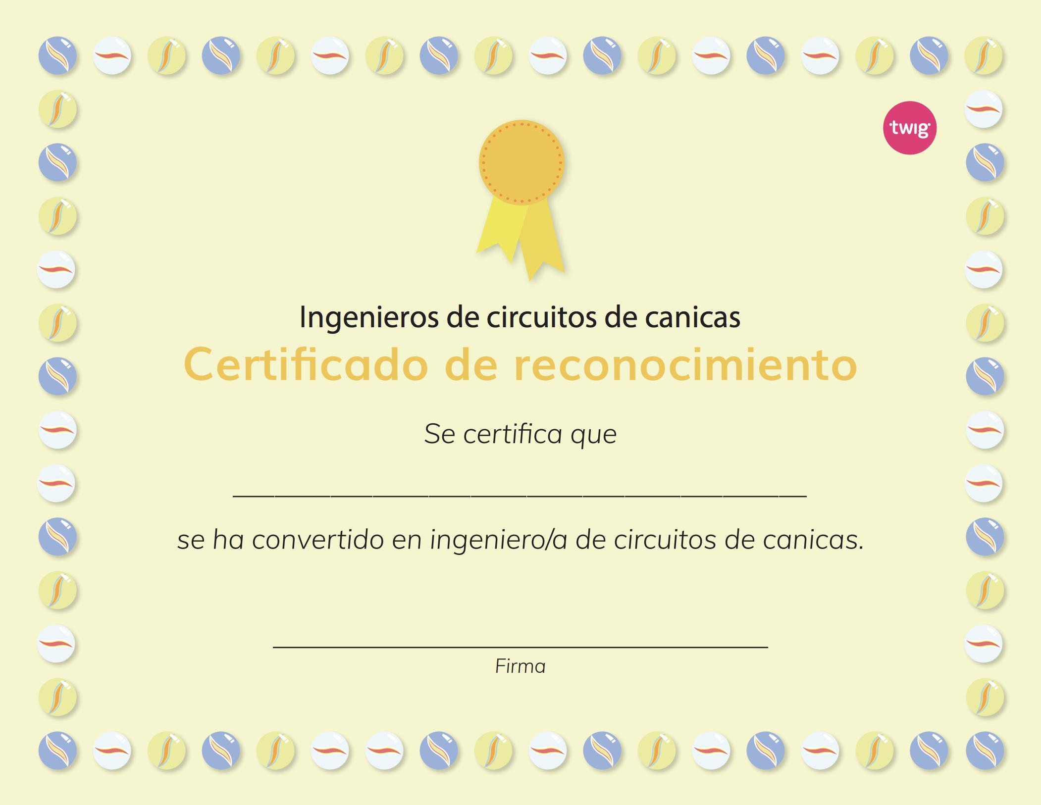 Ficha Certificado de reconocimiento