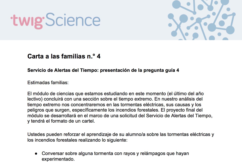 Carta a las familias 4