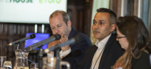 eToro's Iqbal V. Gandham at a parliamentary reception on cryptocurrencies