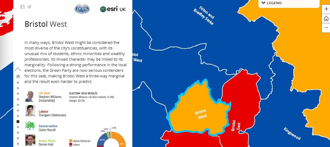Map Of Uk General Election Results.An Interactive Guide To The 50 Constituencies To Watch At The