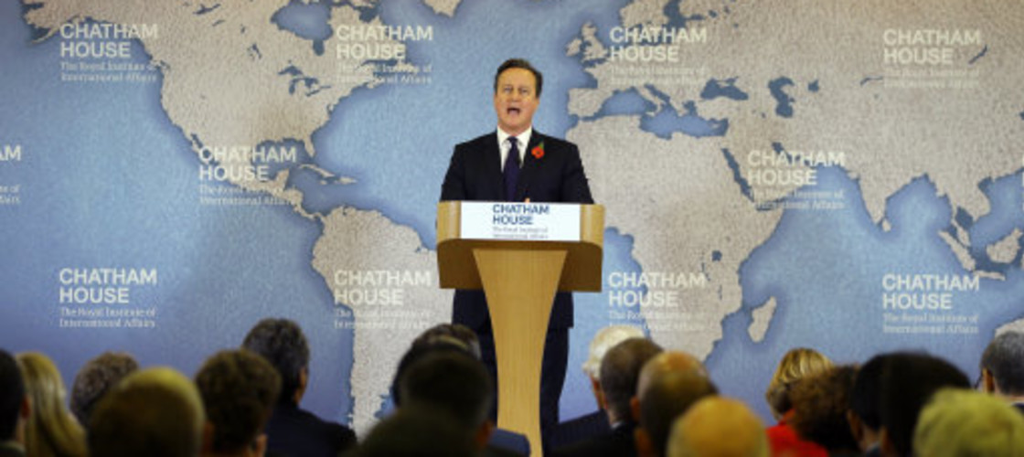 David Cameron delivers a speech on EU reform, 10/11/15