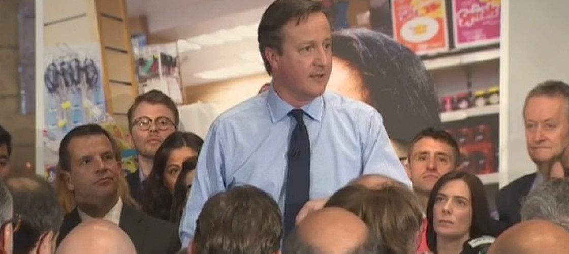 David Cameron launches the Conservatives' small business manifesto in London, 27/04/15