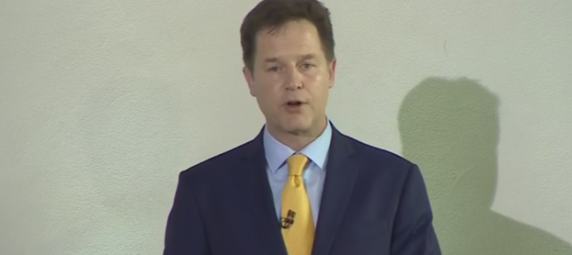 Nick Clegg announces his resignation after crushing Lib Dem losses in the election