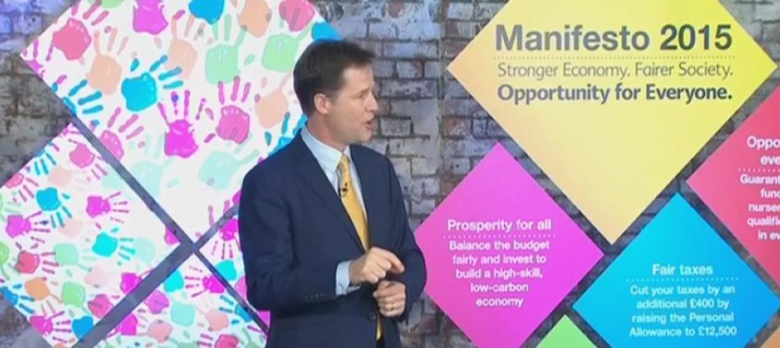 Nick Clegg's full speech launching Lib Dem manifesto