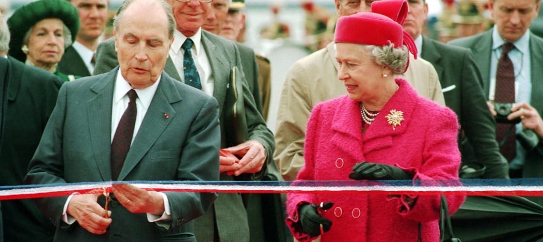 Francois Miterand and the Queen