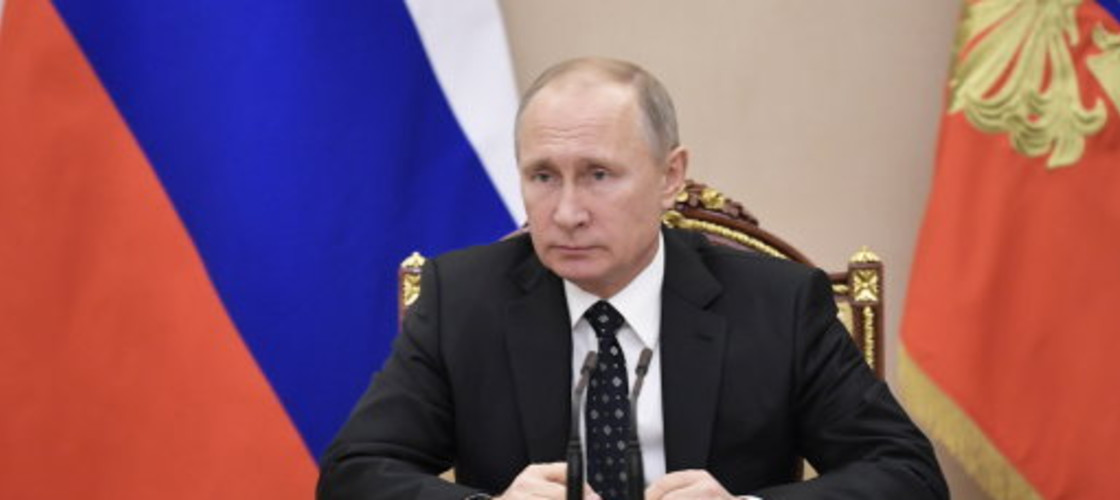 Vladimir Putin chairs a Russian Security Council meeting