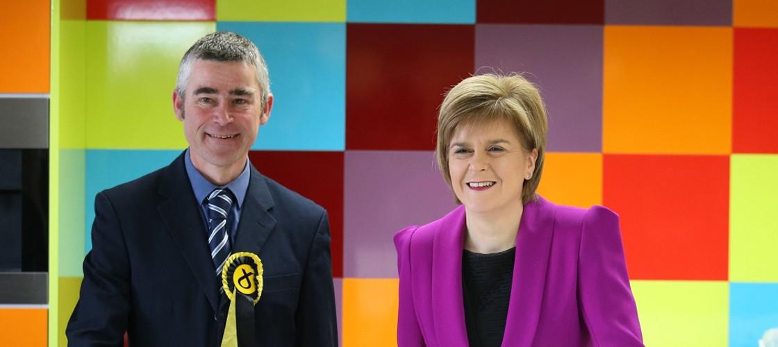 Alan Brown and Nicola Sturgeon
