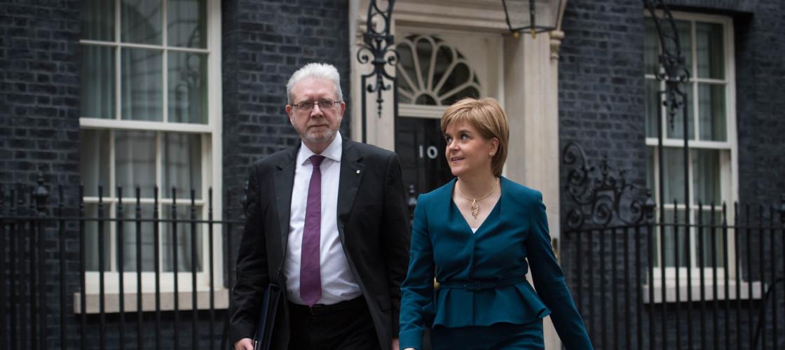 Michael Russell and Nicola Sturgeon