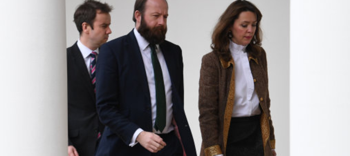 Nick Timothy and Fiona Hill at the White House earlier this year
