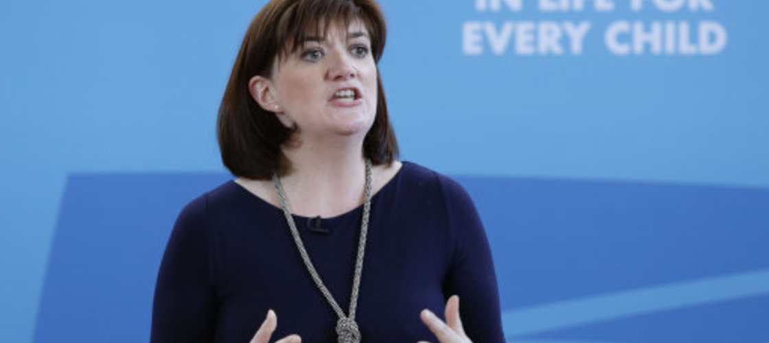 Education Secretary Nicky Morgan at Kingsmead school in Enfield