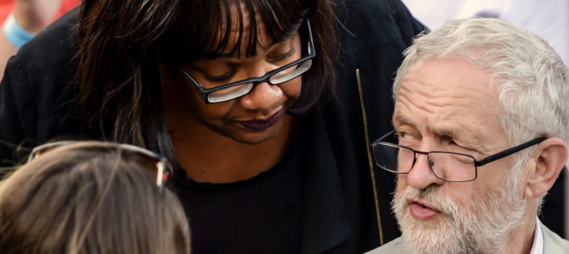 Diane Abbott and Jeremy Corbyn