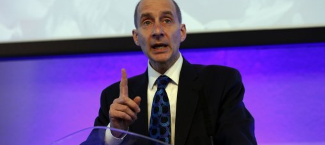 Andrew Adonis speaking at a conference in 2012