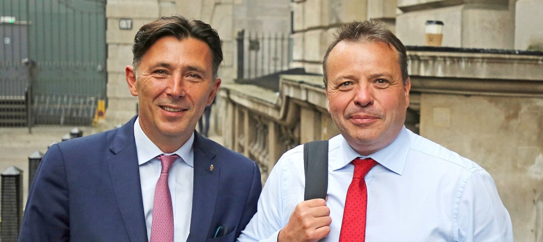 Andy Wigmore and Arron Banks