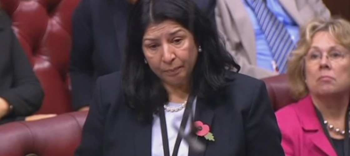 Baroness Manzoor in the House of Lords, October 2015