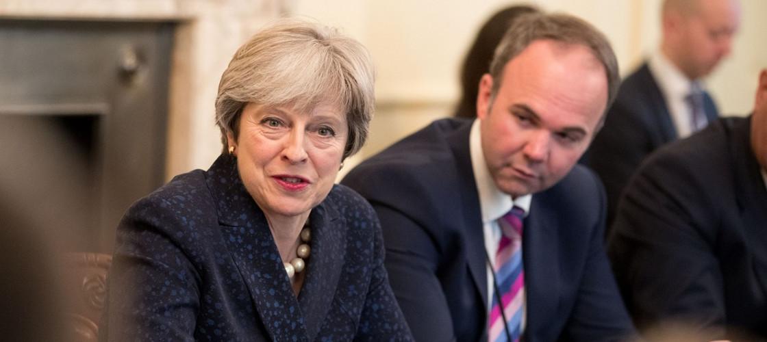 Theresa May and Gavin Barwell