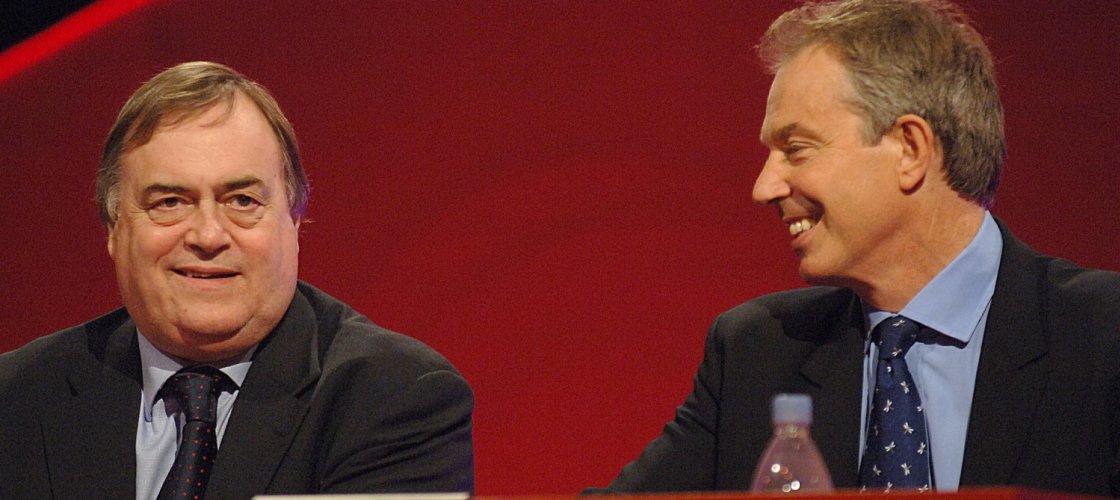 Tony Blair and John Prescott at Labour conference in 2006