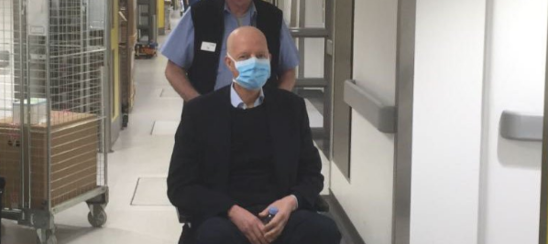 Nick Boles tweeted a picture of himself in hospital