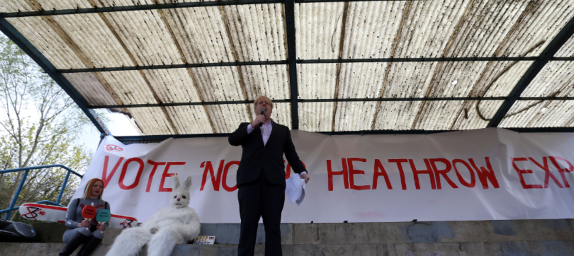 Boris Johnson Heathrow protest