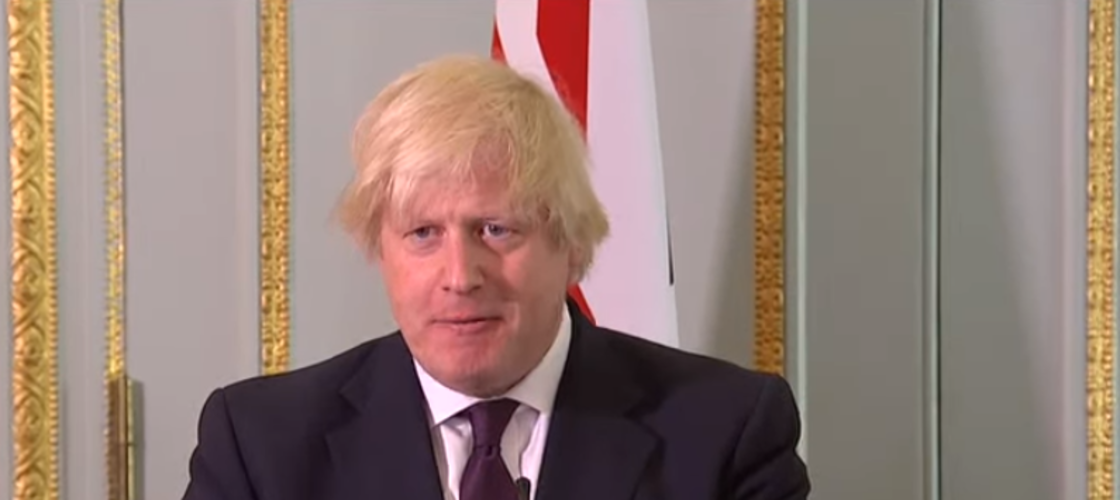 Boris Johnson speaking this afternoon