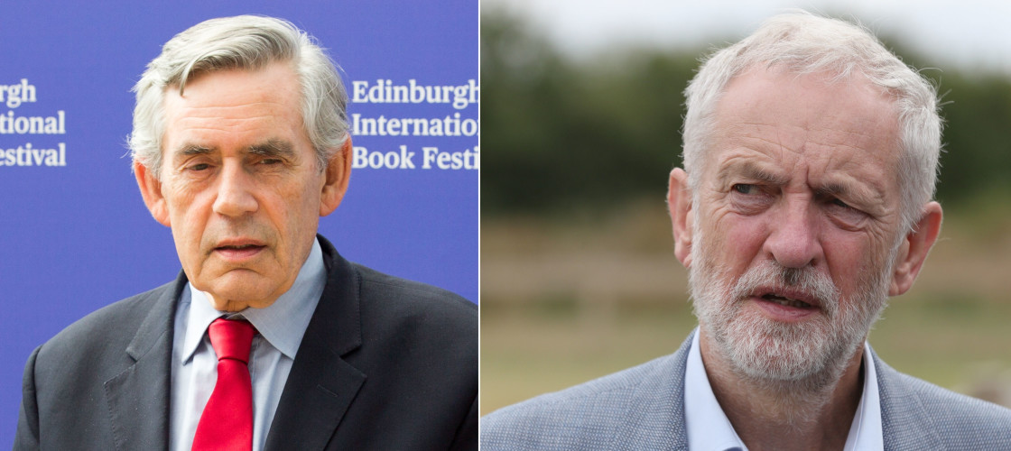 Gordon Brown and Jeremy Corbyn