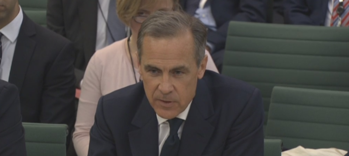 Mark Carney appearing before the Treasury committee