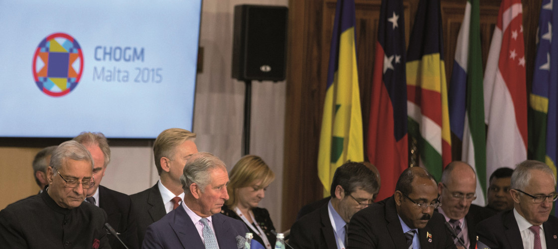 Prince Charles at the 2015 Commonwealth Heads of Government Meeting