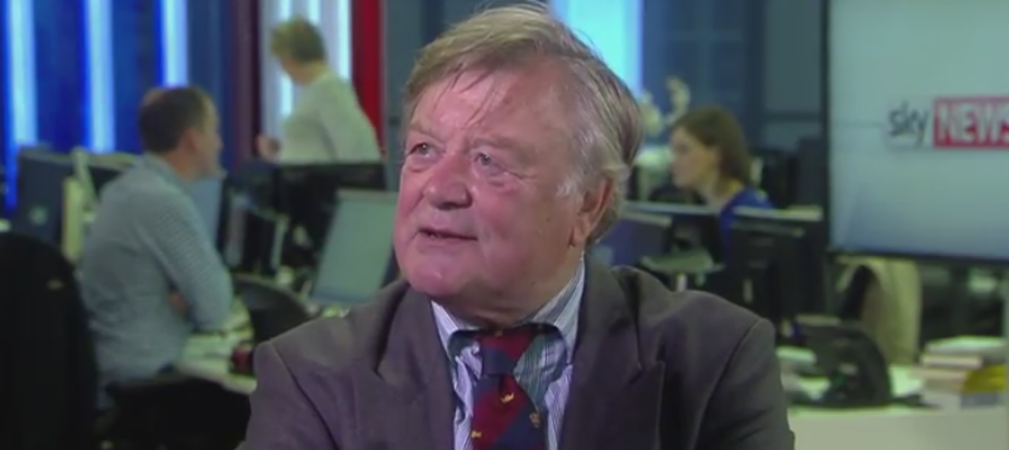 Ken Clarke was caught off guard in the Sky News studio