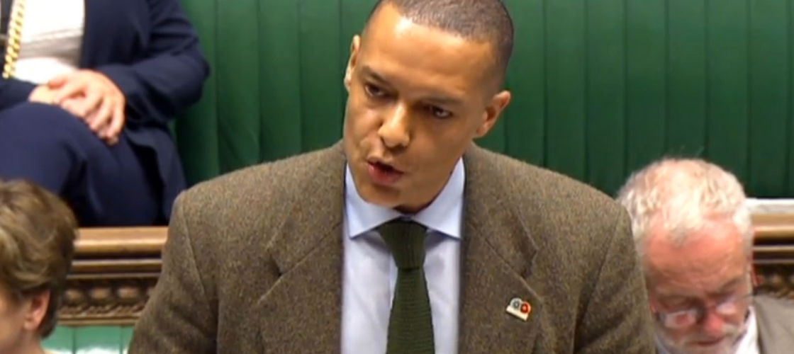 Clive Lewis in the House of Commons