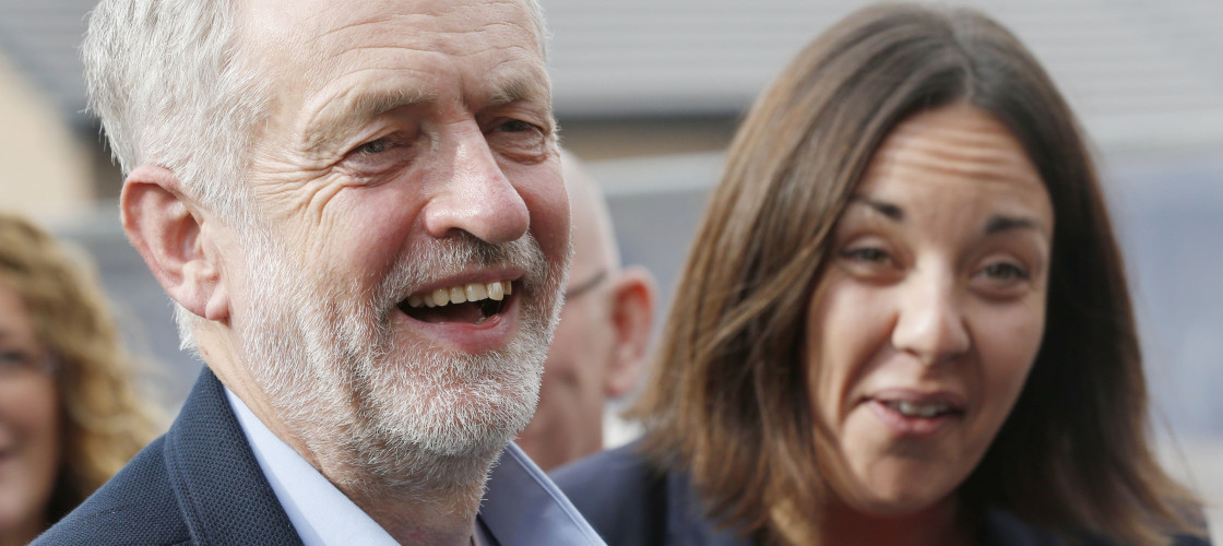 Jeremy Corbyn and Kezia Dugdale in Edinburgh