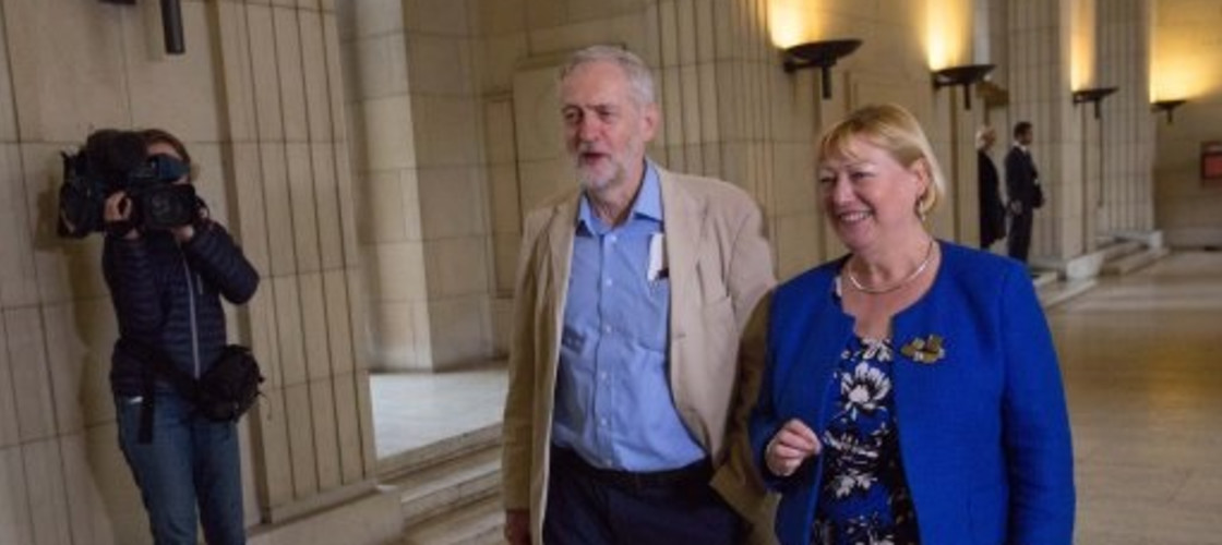 Jeremy Corbyn and Pat Glass