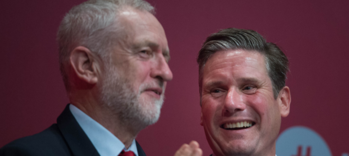 Jeremy Corbyn and Keir Starmer