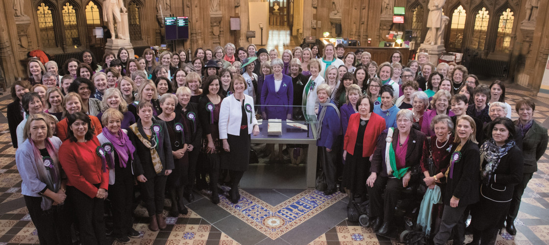 Women MPs celebrate Vote 100 in parliament