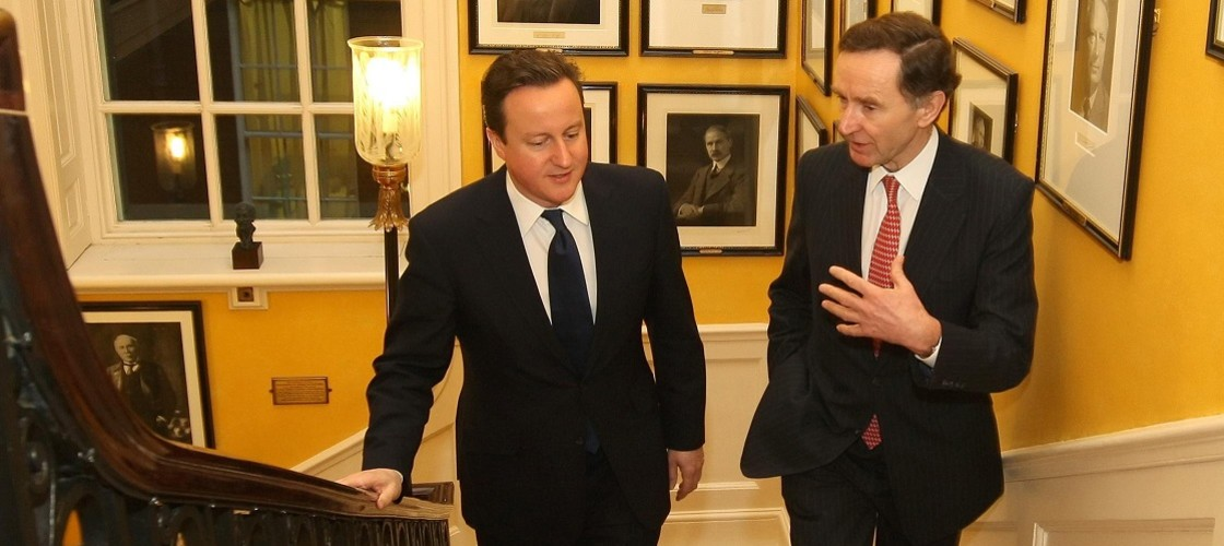David Cameron with HSBC's[now] Lord Green