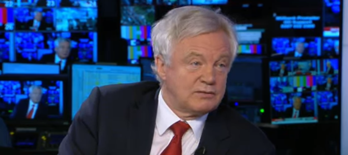 David Davis on Sky News this morning