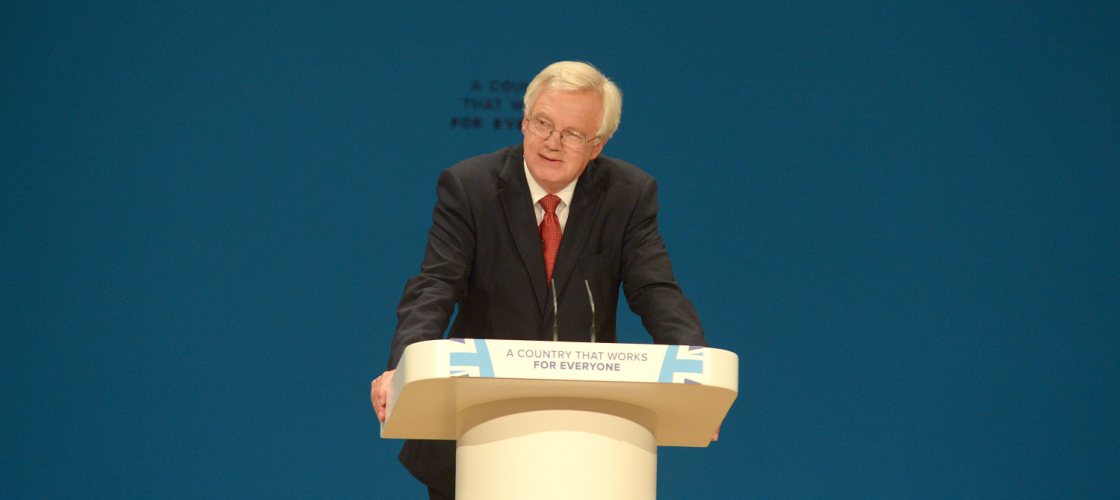 David Davis at Conservative party conference