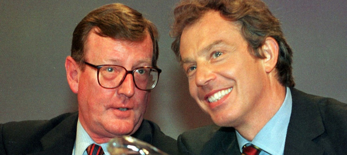 David Trimble and Tony Blair