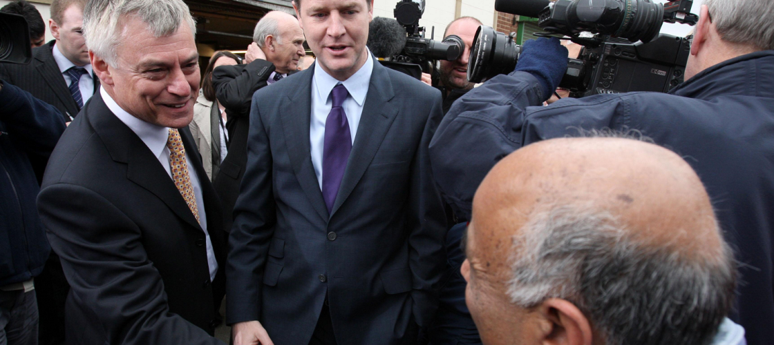 David Ward and Nick Clegg in 2010