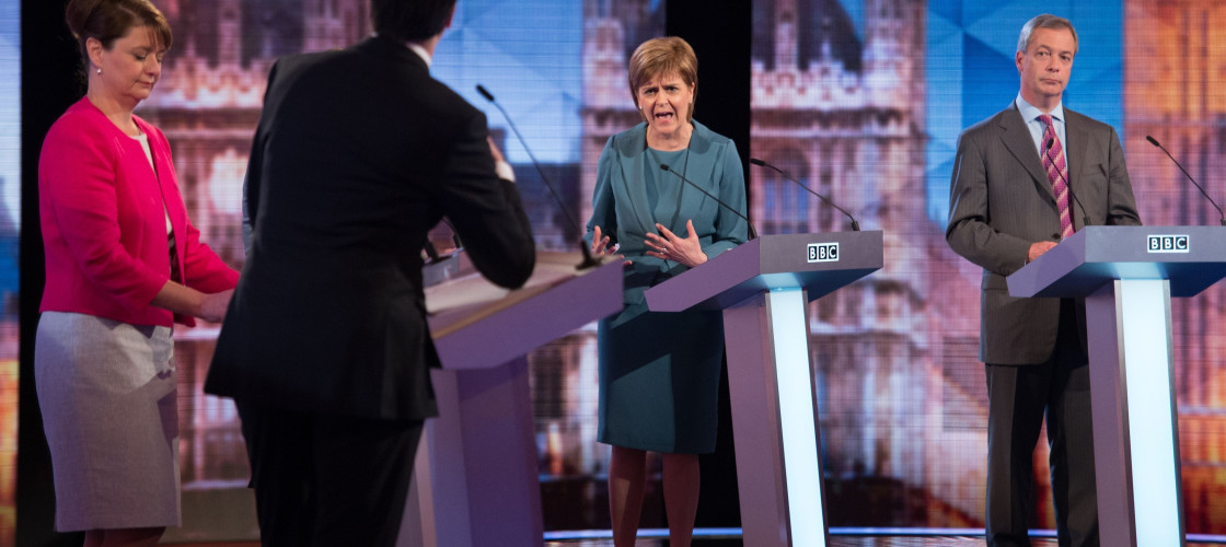 An image from the BBC's 2015 general election debate