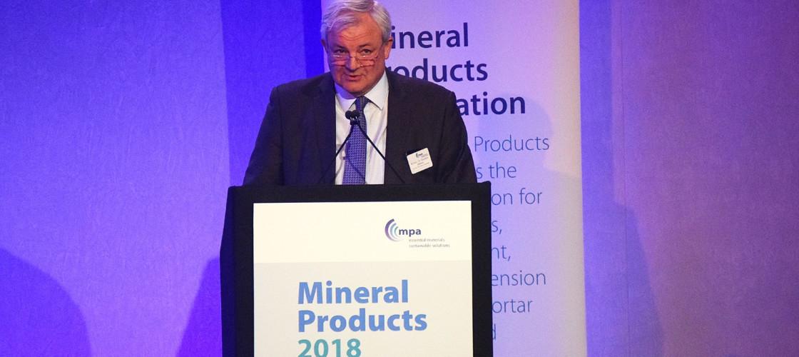 Sir Stephen O'Brien, KBE, speaking at MP2018