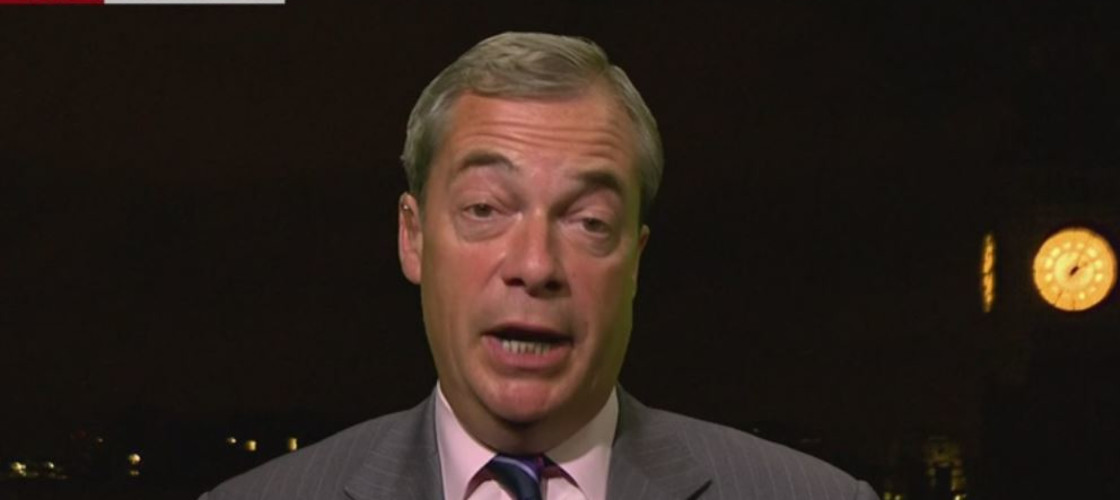 Nigel Farage speaking to the BBC this morning