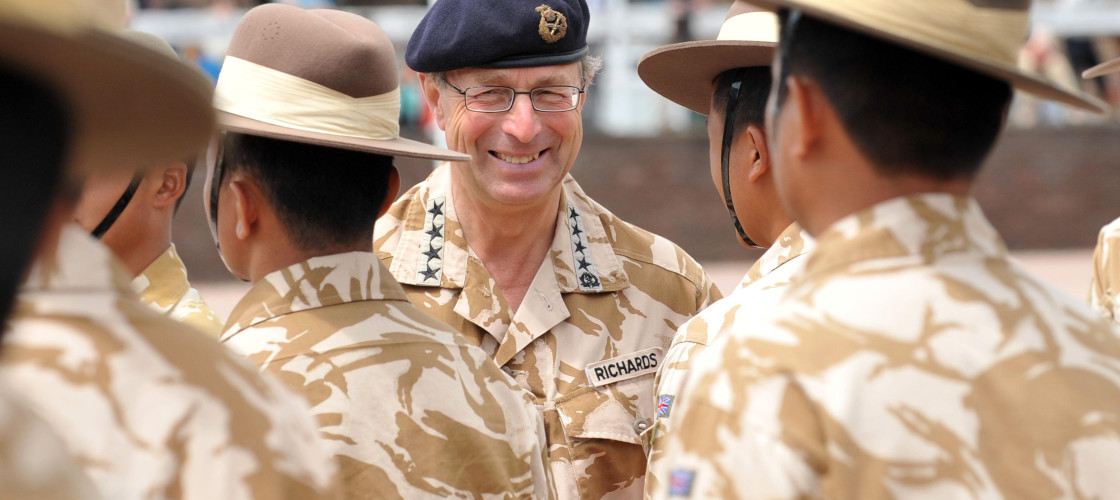 General David Richards served as the Chief of the Defence Staff from 2010-2013.