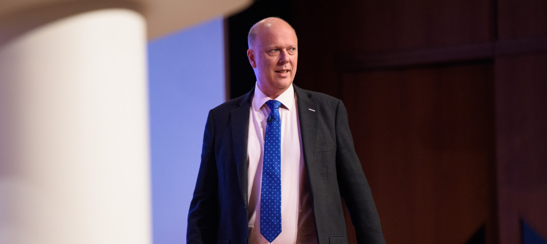 Chris Grayling at Conservative party conference