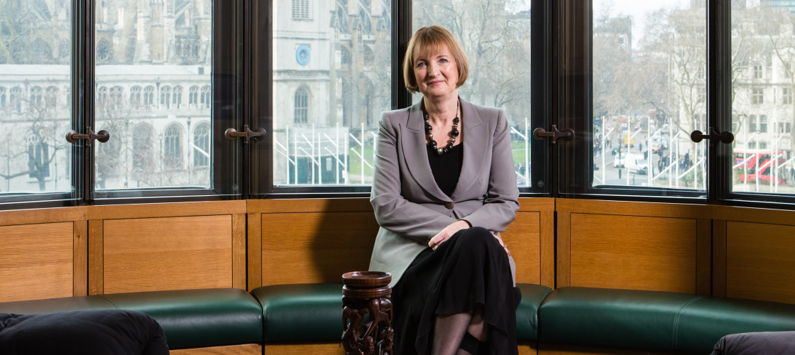 Harriet Harman photographed by Louise Haywood-Schiefer