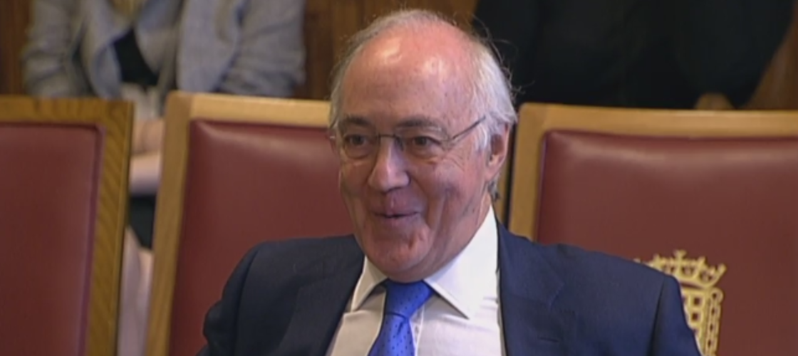 Lord Howard giving evidence this morning