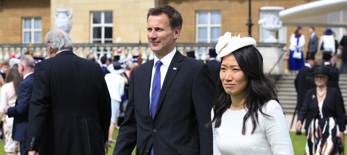 Jeremy Hunt and his wife, Lucia Guo