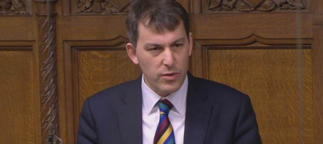 Tory MP John Glen speaking in the Commons today